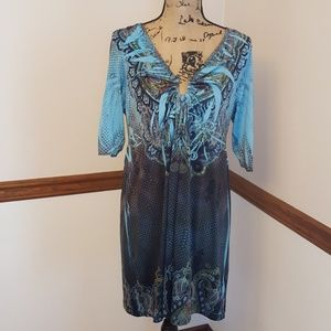 Apt. 9 Print Embellished Dress Size Extra Large